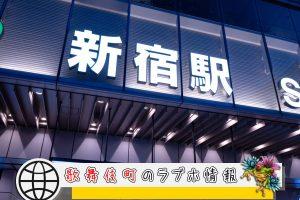 山手線、ラブホが多い駅「新宿駅」編